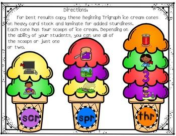 Beginning Trigraphs (Ice Cream Cone Puzzles)