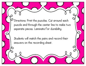 Beginning Trigraphs Vocabulary Puzzles