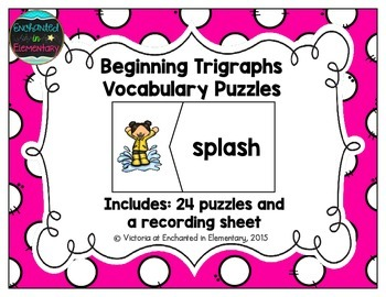 Beginning Trigraphs Vocabulary Puzzles