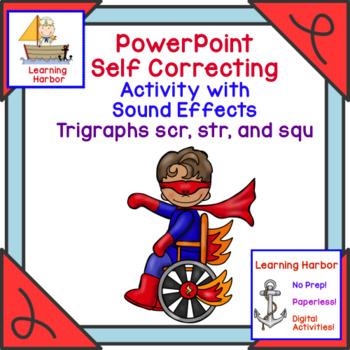 Beginning Trigraphs scr, str, squ  Interactive PowerPoint Activity