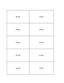 Beginning Two-Letter Blends with -NG and -NK Units Concentration Cards