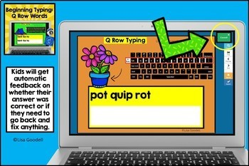 Beginning Typing Practice: Top Row Words (Q Row)