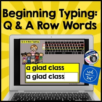 Beginning Typing Practice: Top  and Middle Row Words (Q & A Row)