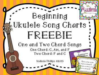 Beginning Ukulele Songs FREEBIE: Song Charts for One and Two Chord Folk Songs