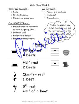 Beginning Violin Class Curriculum