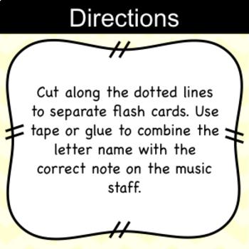 Beginning Violin Note Flashcards