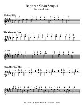 Beginning Violin Songs 1