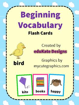 Beginning Vocabulary Flash Cards