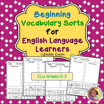 Vocabulary Sorts for English Language Learners