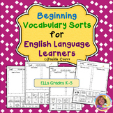 Vocabulary Sorts for English Language Learners #DistancelearningTPT
