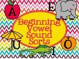 Beginning Vowel Sound Sorts - Initial Short Vowels