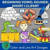 Beginning Vowel Sounds Short I: Hand-drawn Letter I Clipart