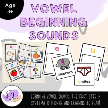 Beginning Vowel Sounds - systematic phonics