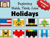 Beginning Watch, Think, Color Holiday Bundle Mystery Pictures