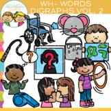 Digraphs Clip Art: Beginning WH Words Clip Art {Volume TWO}
