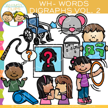 Digraphs Clip Art: Beginning WH Words Clip Art {Volume TWO}