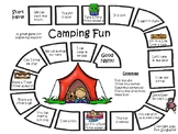 Beginning Words Camping Board Game