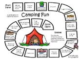Beginning Words Camping Board Game