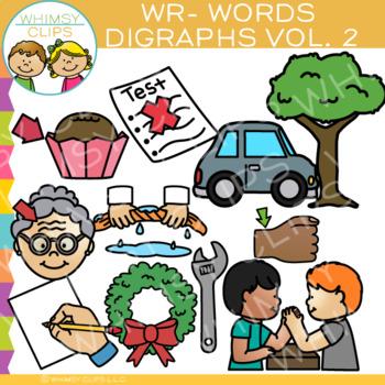 Digraphs Clip Art: Beginning WR Words Clip Art {Volume TWO}