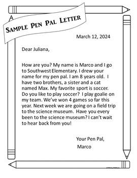 Beginning Writer's Letter Templates