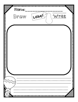 Beginning Writers: Draw, Label, and Write