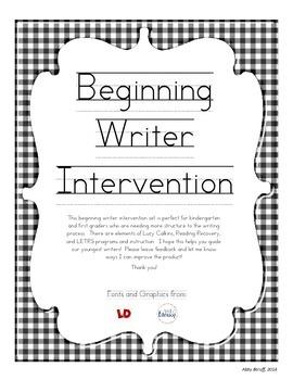 Beginning Writing Intervention