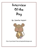 """Beginning Writing - """"Interview of the Day"""" Class Book"""