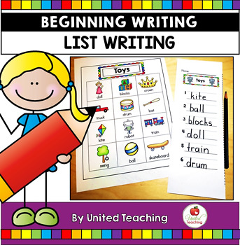Beginning Writing: List Writing