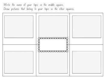 Beginning Writing - List Writing Graphic Organizers