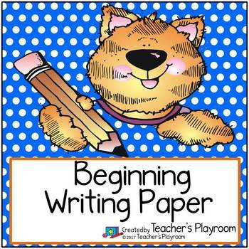 Beginning Writing Paper Freebie