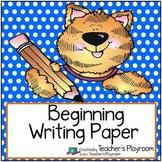 Beginning Writing Paper Freebie