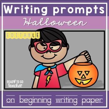 Beginning Writing Paper for Halloween
