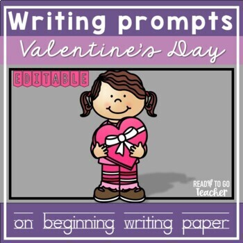 Beginning Writing Paper for Valentine's Day
