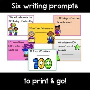 Beginning Writing Paper for the 100th Day of School