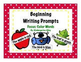 Beginning Writing Prompts: Color Words