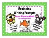 Beginning Writing Prompts: Rhyming Words