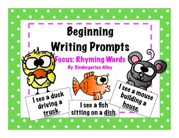 Beginning Writing Prompts: Rhyming Words