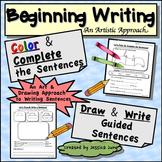 Beginning Writing: Draw and Write Sentences