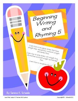 Beginning Writing and Rhyming 5