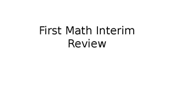 Beginning Year Math Benchmark, 4th Grade