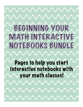 Beginning Your Math Interactive Notebooks Bundle