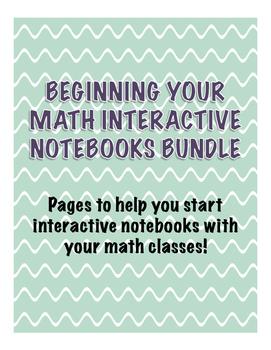 Beginning Your Math Interactive Notebooks Bundle