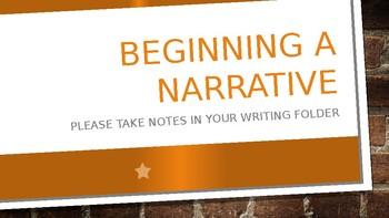 Beginning a Narrative Presentation