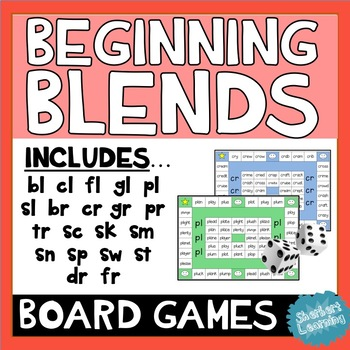 Beginning and End Blends Board Games - Reading Activity