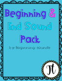 Beginning and End Sound Worksheets and Literacy Centers