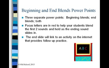 Beginning and End blends Power Point Bundle