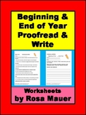 Beginning and End of Year Proofread & Write Distance Learn