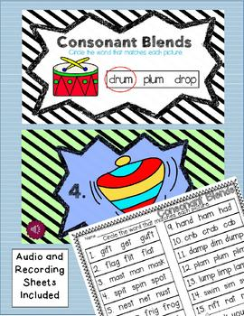 Beginning and Ending Blends - DIGITAL TASK CARD CENTERS - ccvc and cvcc words