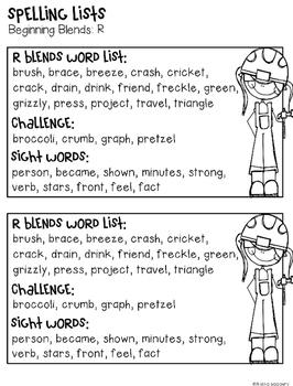Beginning and Ending Blends Word Work: Spelling Under Construction