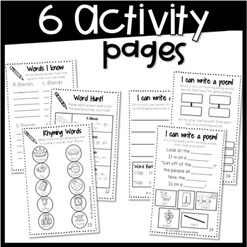 Blends Fluency Poems and Activities